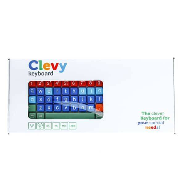 Clevy Keyboard in verpakking voorkant qwerty