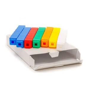 Set blokjes voor taal 42 unfix blokjes op witte verpakking